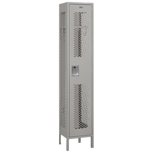 Salsbury Assembled Single Tier Vented Locker - Gray