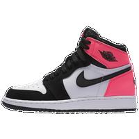 new concept 569ff 9c9f0 Jordan Retro 1 High OG - Girls  Grade School - Black   Pink