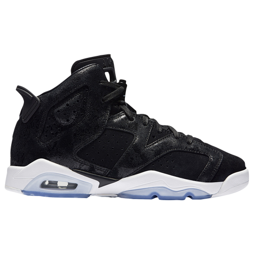 Jordan Retro 6 - Girls' Grade School - Basketball - Shoes -  Black/Black/White
