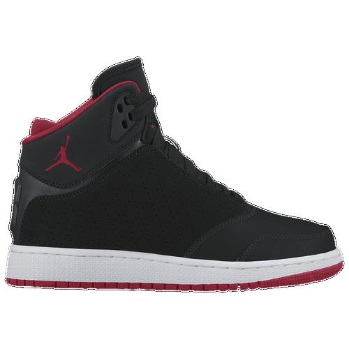 Jordan 1 Flight 5 Premium - Boys' Grade School - Basketball - Shoes - Black/Gym  Red