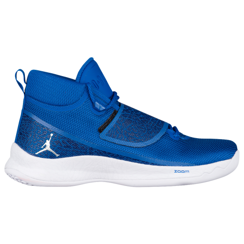 jordan super.fly 5 po mens blue  white