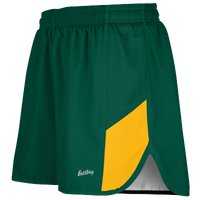 "Eastbay Team 2"" 2 Color Split Track Short 2.0 - Men's - Dark Green / Gold"