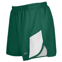"Eastbay Team 2"" 2 Color Track Shorts - Women's - Dark Green / White"