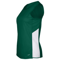 Eastbay Team Two Color Singlet - Women's - Dark Green / White