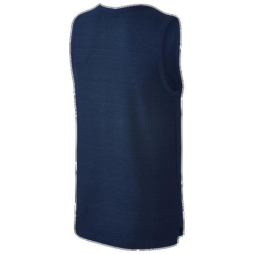 Nike Advance 15 Knit Tank - Men's - Casual - Clothing - Binary Blue  Heather/White