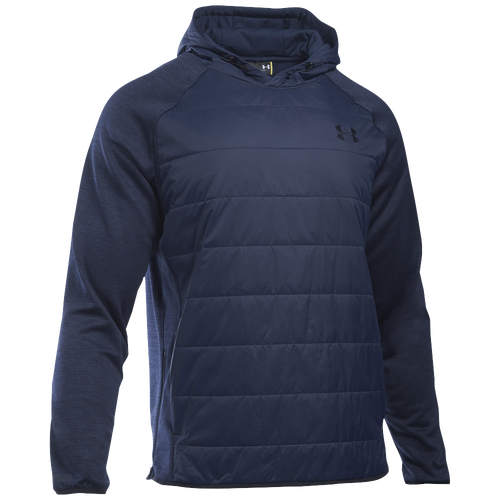 Under Armour Swacket Insulated Popover Hoodie - Men's Casual - Midnight Navy/Midnight Navy/Silver 82193410