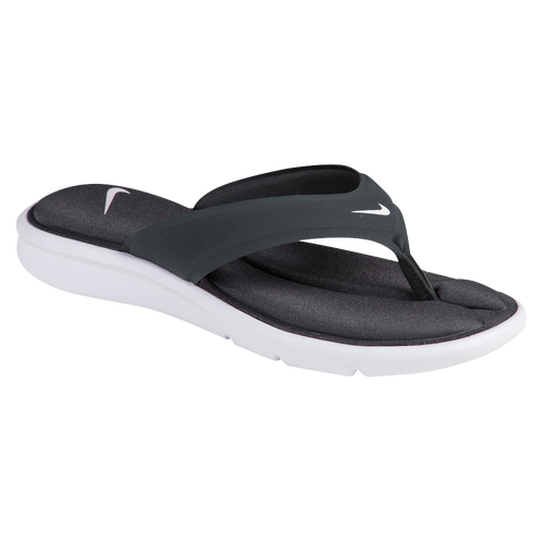 Nike Ultra Comfort Thong - Women's Casual - Anthracite/White 82697004