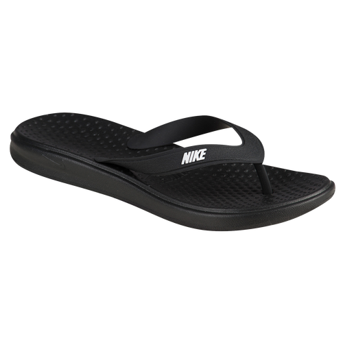 Nike Solay Thong - Women's Casual - Black/White 82699002