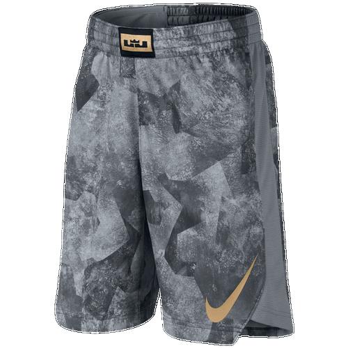 616d6d422266 Nike LeBron Elite Shorts - Boys Grade School - Basketball - Clothing - Grey  ...