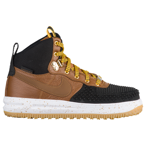 Nike ACG Lunar Force 1 Duckboots - Boys\u0027 Grade School - Casual - Shoes -  Black/Light British Tan/White/Gum Light Brown