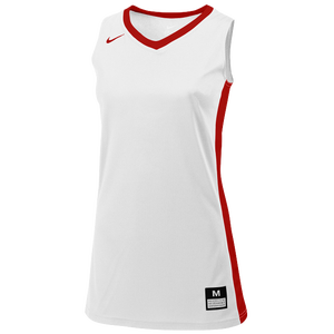Nike Team Fastbreak Jersey - Girls' Grade School - White/Team University Red