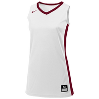 Nike Team Fastbreak Jersey - Girls' Grade School - White / Maroon