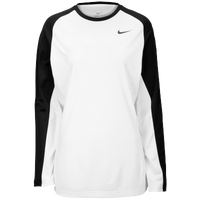 Nike Team Elite L/S Shooting Shirt - Women's - White / Black