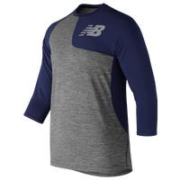 73f2311a5b274 New Balance ASYM 2.0 Left Shirt 3/4 Sleeve - Men's - Grey / Navy