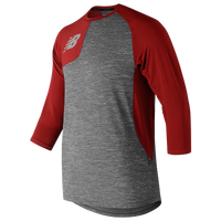 New Balance ASYM 2.0 Right Shirt 3/4 Sleeve - Men's - Red / Grey