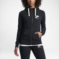 Nike Gym Vintage Full-Zip Hoodie - Women s - Black   White 54667fe32