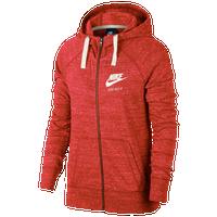 Nike Gym Vintage Full-Zip Hoodie - Women s - Pink   Off-White c7b4ab670e