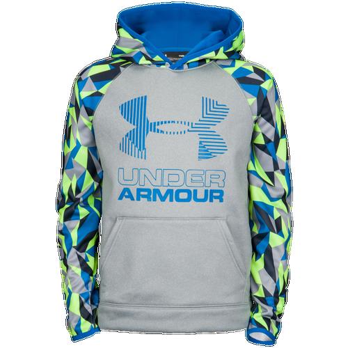 285d3670e721 Under Armour Armour Fleece Novelty Big Logo Hoodie - Boys  Grade ...