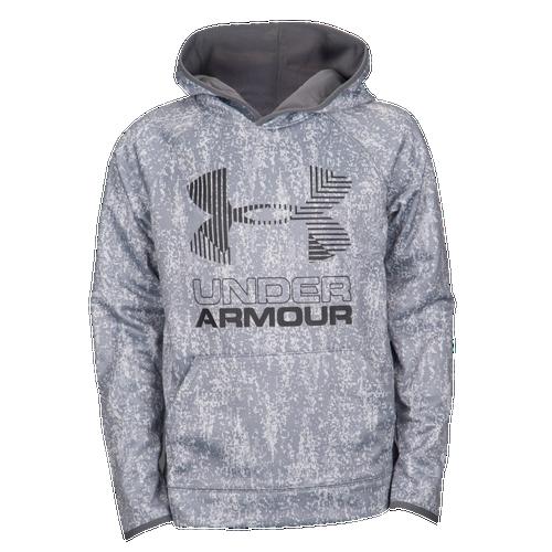 e18e0e28af92 Under Armour Armour Fleece Novelty Big Logo Hoodie - Boys  Grade ...