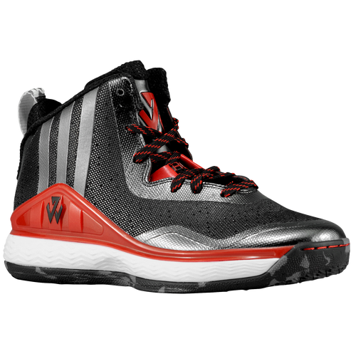 Adidas J Wall Men Black/Scarlet/White Basketball Shoes