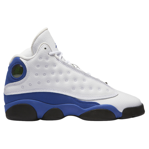 Jordan Retro 13 - Boys' Grade School - Basketball - Shoes - White/Hyper  Royal/Black