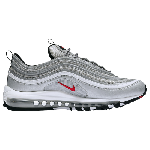 Nike Air Max '97 - Men's - Running - Shoes - Metallic Silver/Varsity  Red/Black/White