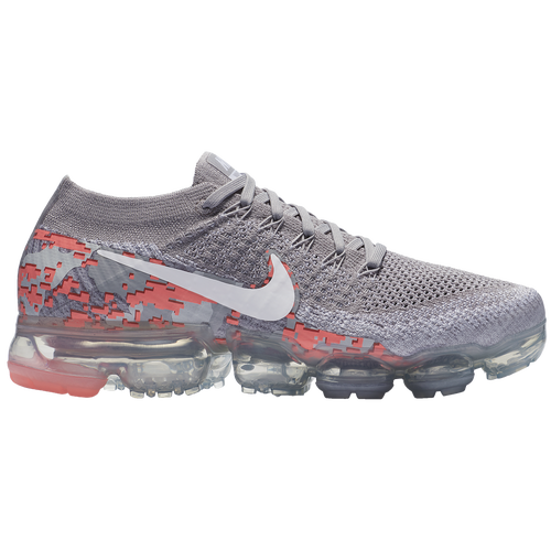 Nike Air VaporMax Flyknit - Women's - Running - Shoes - Atmosphere Grey/ White/White/Hot Punch