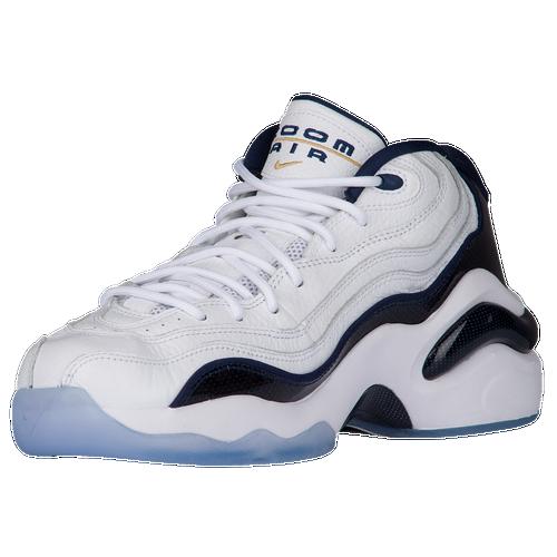 Nike Air Zoom Flight '96 - Men's - Basketball - Shoes - White/Metallic  Gold/White/Midnight Navy