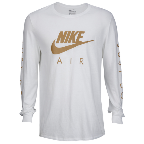 Nike Graphic Long Sleeve T-Shirt - Men s - Casual - Clothing - White Light  Gold 96caadec747