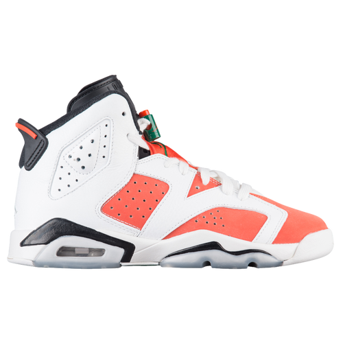 Jordan Retro 6 - Boys' Grade School - Basketball - Shoes - Summit  White/Team Orange/Black