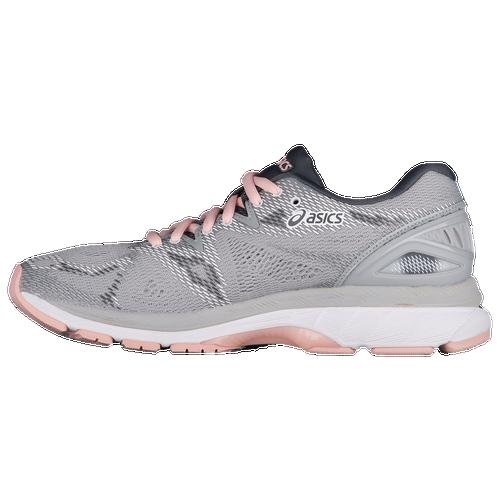 ASICS® GEL-Nimbus 20 - Women's - Running - Shoes - Mid Grey/Mid  Grey/Seashell Pink
