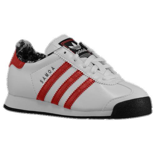 reputable site dbccd b2403 adidas Originals Samoa - Boys  Preschool - Training - Shoes -  White Red Core Black