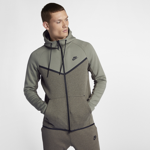 Nike Tech Fleece Colorblocked Windrunner - Men s. Olive Green 76b5a1295