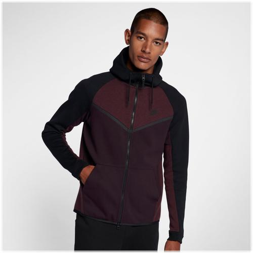 c9fd098f7561 Nike Tech Fleece Colorblocked Windrunner - Men s - Casual - Clothing - Port  Wine Black Black
