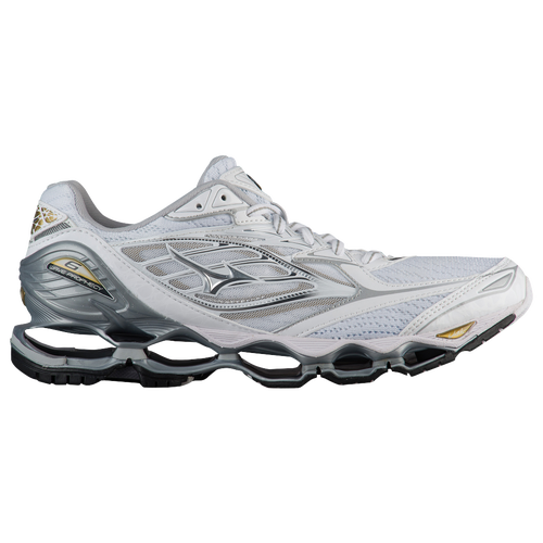 Mizuno Wave Prophecy 6  B  Medium Running Shoes  WhiteSilverGold 66324PVK