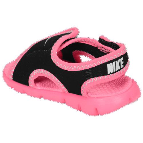 Nike Sunray Adjust 4 - Girls' Toddler - Casual - Shoes - Black/Digital Pink/Pure  Platinum