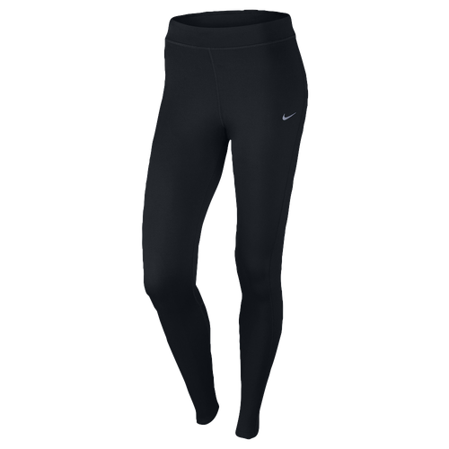 Nike Dri-FIT Thermal Tights - Women's - Running - Clothing - Black/Reflective  Silver
