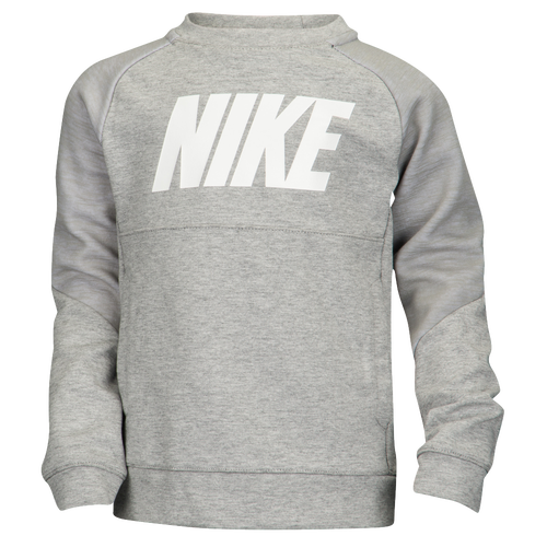 nike av15 pull over crew boys 39 preschool casual clothing dark grey heather heather white. Black Bedroom Furniture Sets. Home Design Ideas