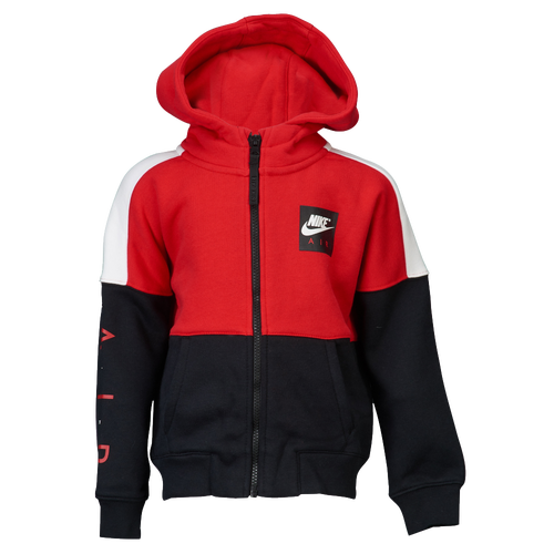 wholesale dealer 94f03 dd4f9 Nike Air Fleece Full-Zip Hoodie - Boys Preschool - Casual - Clothing -  University RedBlackWhite