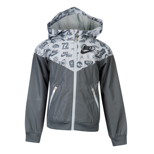 c137fa67a8f3 Nike Windrunner Jacket - Boys  Preschool - Casual - Clothing - Wolf Grey