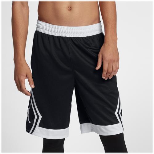 Jordan Rise Diamond Shorts - Men's - Black / White
