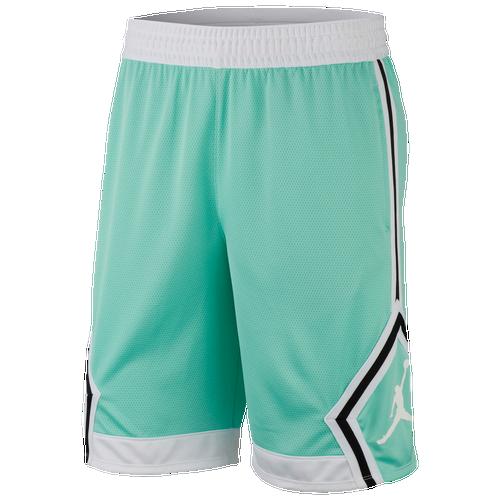 Jordan Rise Diamond Shorts - Men's Basketball - Emerald Rise/White/Emerald Rise 87438349