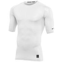 Nike Team 1/2 Sleeve Compression Top - Men's - White / Black
