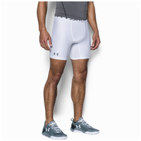 "Under Armour HG Armour 2.0 6"" Compression Shorts - Men's - White / Grey"