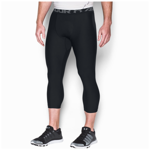 Under Armour HG Armour 2.0 3/4 Compression Tights - Men's - Black/Graphite