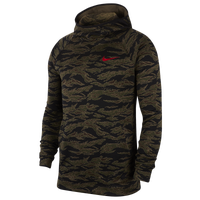 Nike Spotlight Print Hoodie - Men's - Olive Green