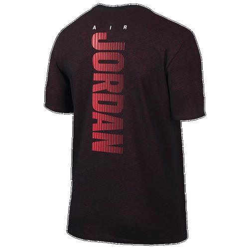 Jordan Men -  Jordan Motion Dri-FIT T-Shirt in Black/Infrared