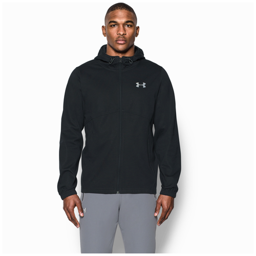 Under Armour Swacket Full Zip Hoodie - Men's - Casual - Clothing - Black/ Silver