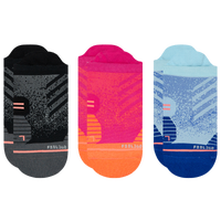 Stance 3 Pack Run Tab Socks - Women's - Black / Pink