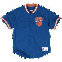dcb46d150a6 Mitchell   Ness NBA Pro Mesh Button Front Jersey - Men s - New York Knicks -